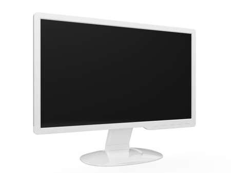 hdtv: 3d render of white widescreen HDTV LCD monitor