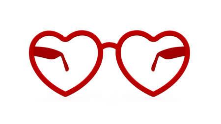 plastic heart: rendering 3D di bicchieri di plastica cuore sullo sfondo di Pentecoste Archivio Fotografico