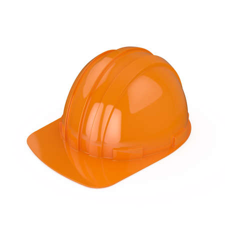 3d render hard hat isolated on white background Stock Photo - 8684743
