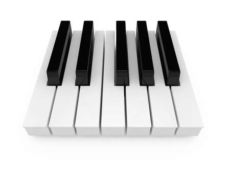 keyboard instrument: 3d render keyboard of the classical piano in an octave range  Stock Photo