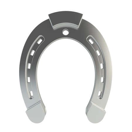 3d render of horseshoe on white background photo