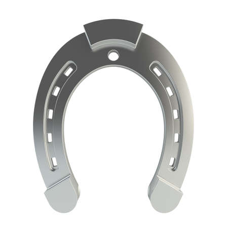 superstition: 3d render of horseshoe on white background