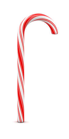 3d illustration of christmas candy isolated on white background