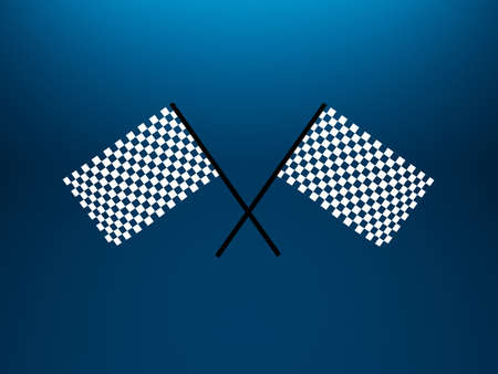 3d illustration of two crossed checkered flags illustration