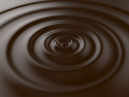 3d render of brown chocolate wave background photo