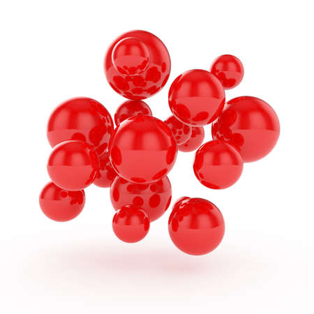 3d render of abstract spheres isolated on white background photo