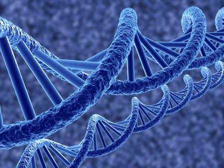 csigavonal: 3d render DNS a kék háttér