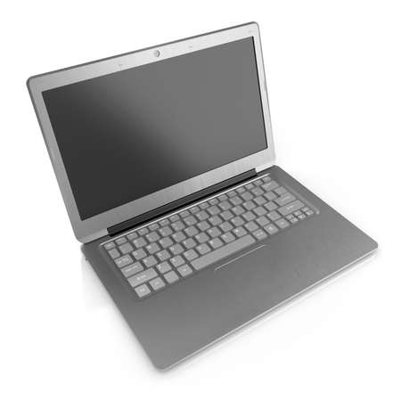 3d render of modern laptop isolated on white background  photo