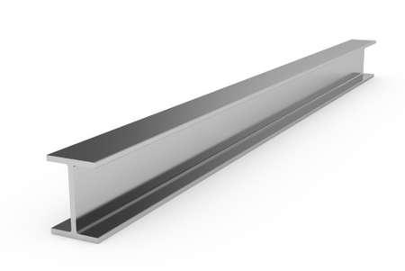 siderurgia: Ilustración 3D de viga de acero aislada sobre fondo blanco