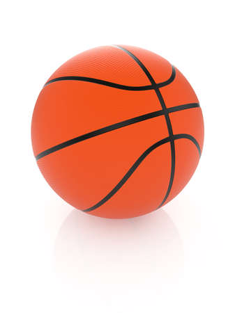 High resolution 3d render of basketball on white background photo