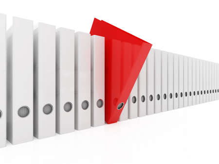 3d illustration of red folder within white  illustration