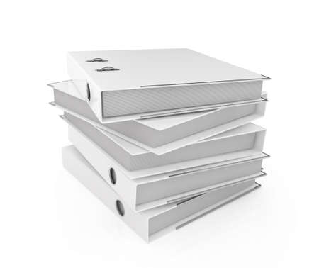 Illustration of white blank folder stack illustration