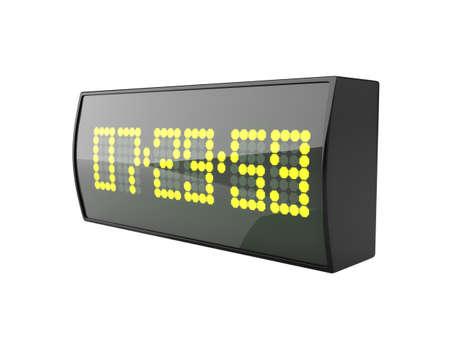 am radio: 3d illustration of digital alarm clock Stock Photo