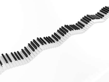 3d render keyboard of the classical piano in an octave range  photo