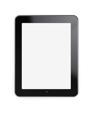 3d render of tablet pc with blank screen Stock Photo - 12141589