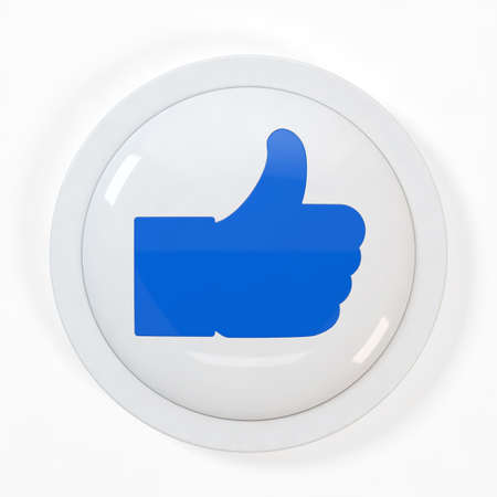 3d illustration of  Like  button isolated on white background illustration