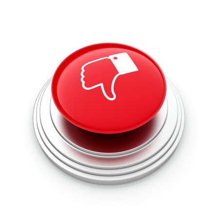 unlike: 3d illustration of  Unlike  button isolated on white background