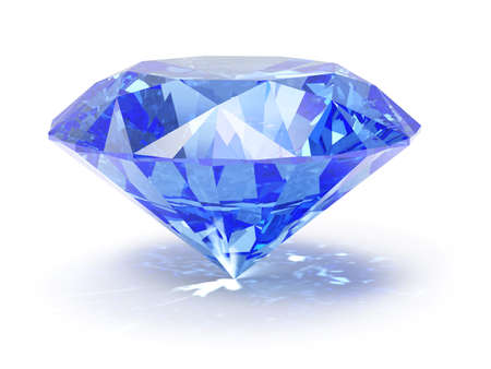 brilliant colors: 3d illustranion of diamond jewel on white background  Stock Photo