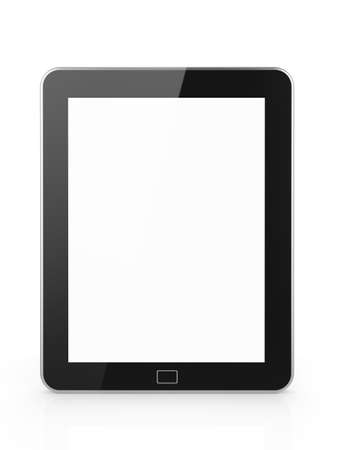 3d illustration of tablet pc with white screen  Isolated illustration Stock Illustration - 12724454