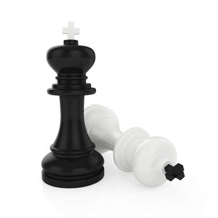 Illustration of chess king standing on white background illustration