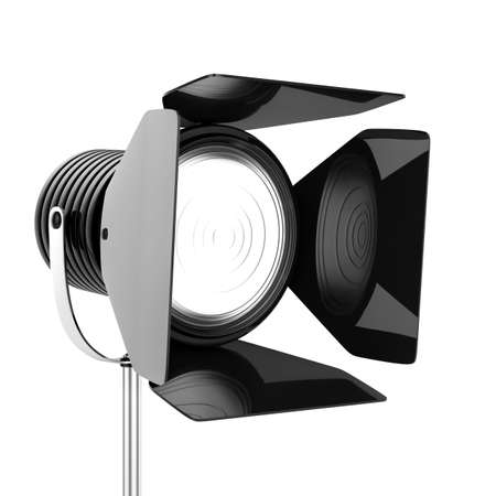 3d render of black spotlights on a white background  photo