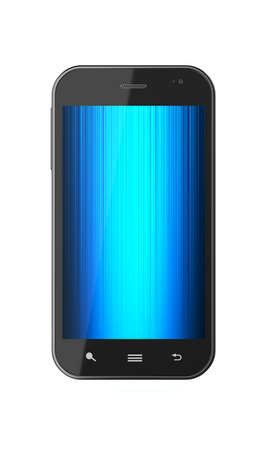 3d illustration of touchscreen smartphone isolated on white background  Stock Illustration - 12812011