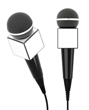 3d render of microphone on a white background  photo