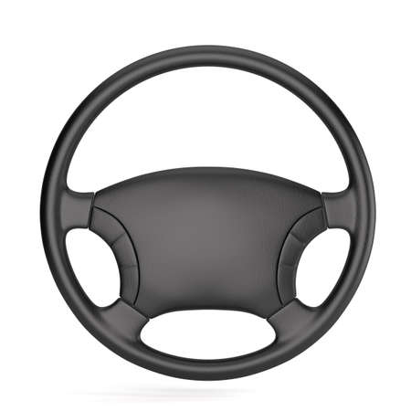 3d render of steering wheel isolated photo