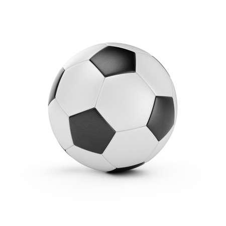 pelota de futbol: 3d de pelota de f�tbol aislados sobre fondo blanco Foto de archivo