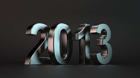 3d illustration number of future 2013 year on dark background illustration