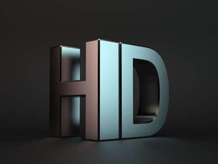definition: 3d illustration of meta HDl word over black background