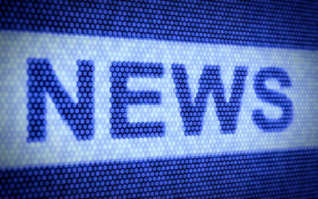 3d render of news concept on blue screen photo