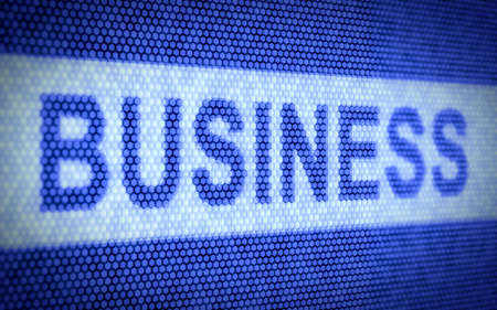3d illustration of business text on computer screen illustration