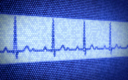 3d illustration of heartbeat on computer screen Stock Illustration - 14747266