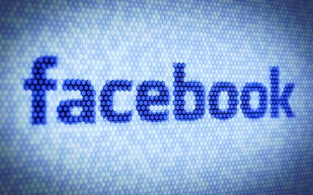 google: 3d ilustraci�n de texto en la pantalla de ordenador facebook