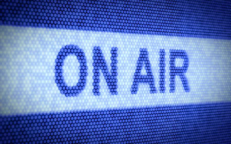 radio station: 3d illustration of ON AIR concept on computer screen Stock Photo