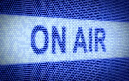 microfono de radio: 3d ilustración en el concepto de la AIR en la pantalla del ordenador Foto de archivo