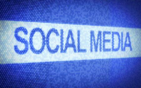 3d illustration of social media concept on computer screen Stock Illustration - 14747314