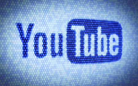 3d illustration of YouTube concept on computer screen Stock Photo - 14740384