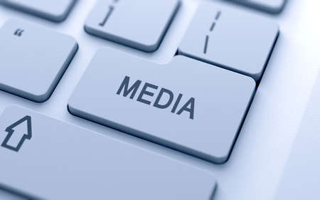Media button on keyboard with soft focus Stock Photo - 14747336