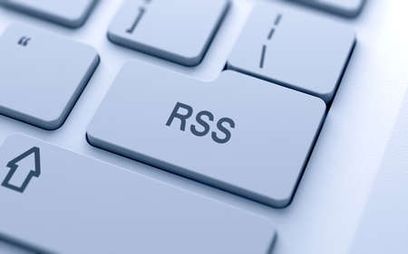 RSS button on keyboard with soft focus Stock Photo - 14747318