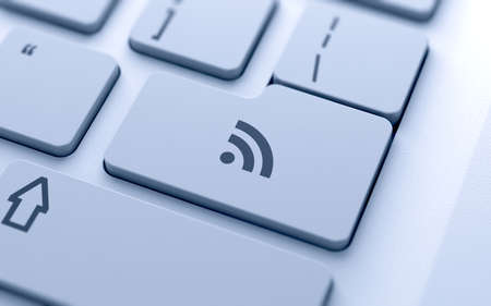 RSS button on keyboard with soft focus Stock Photo - 14921952