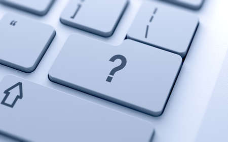 faq: Question button on keyboard with soft focus  Stock Photo
