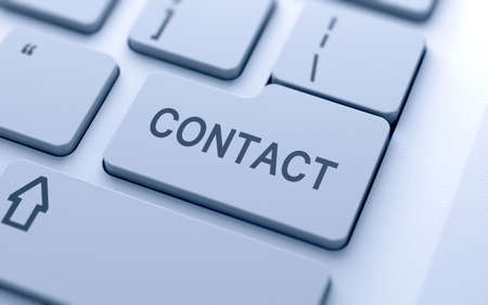 Contact button on keyboard with soft focus  Stock Photo - 15203111
