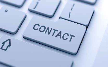 Contact-knop op het toetsenbord met zachte focus