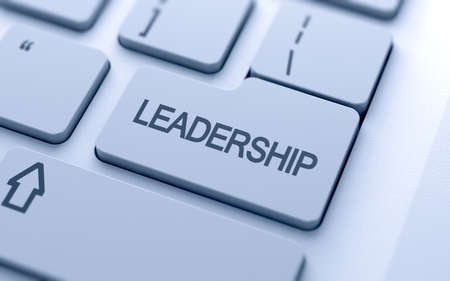 successful leadership: Leadership button on keyboard with soft focus