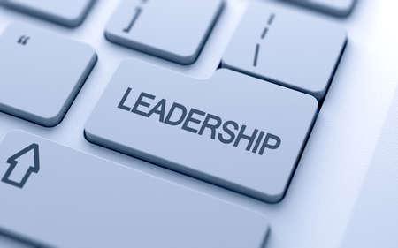 leiderschap: Leiderschap knop op het toetsenbord met zachte focus
