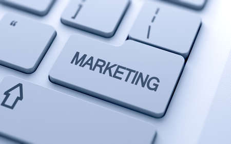 Marketing button on keyboard with soft focus  Stock Photo - 15203117