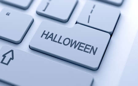 enter button: Halloween button on keyboard with soft focus