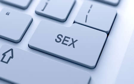 Sex button on keyboard with soft focus  Stock Photo - 15012059